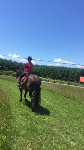 One person riding a horse at Ephphatha Farm